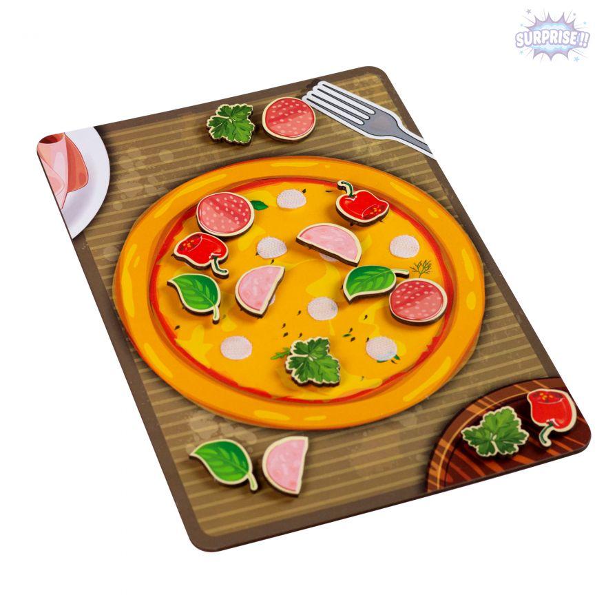 Игра-Липучка пицца с колбасой