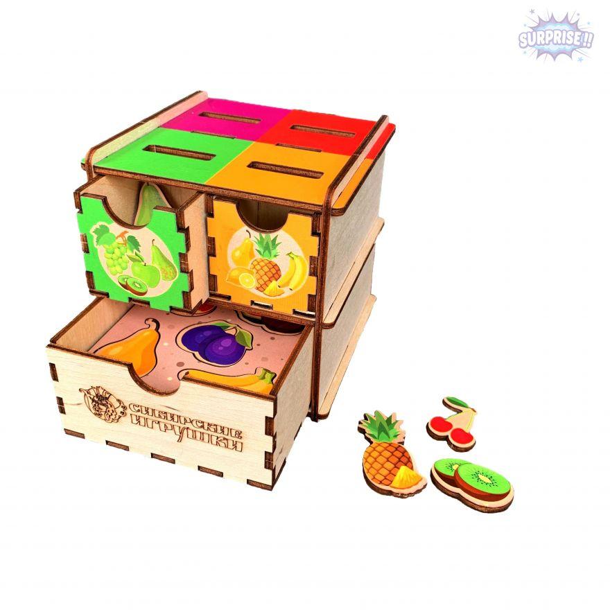 Комодик куб с принтом фрукты ягоды