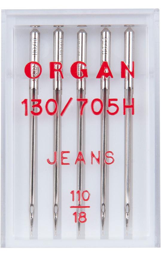 Иглы ORGAN джинс, №100 (5шт.)