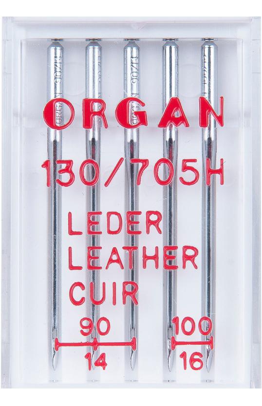 Иглы ORGAN для кожи, набор №90-100 (5шт.)