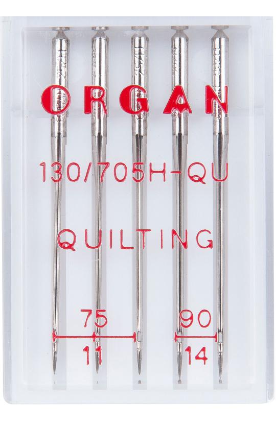 Иглы ORGAN для квилтинга, набор №75-90 (5шт.)