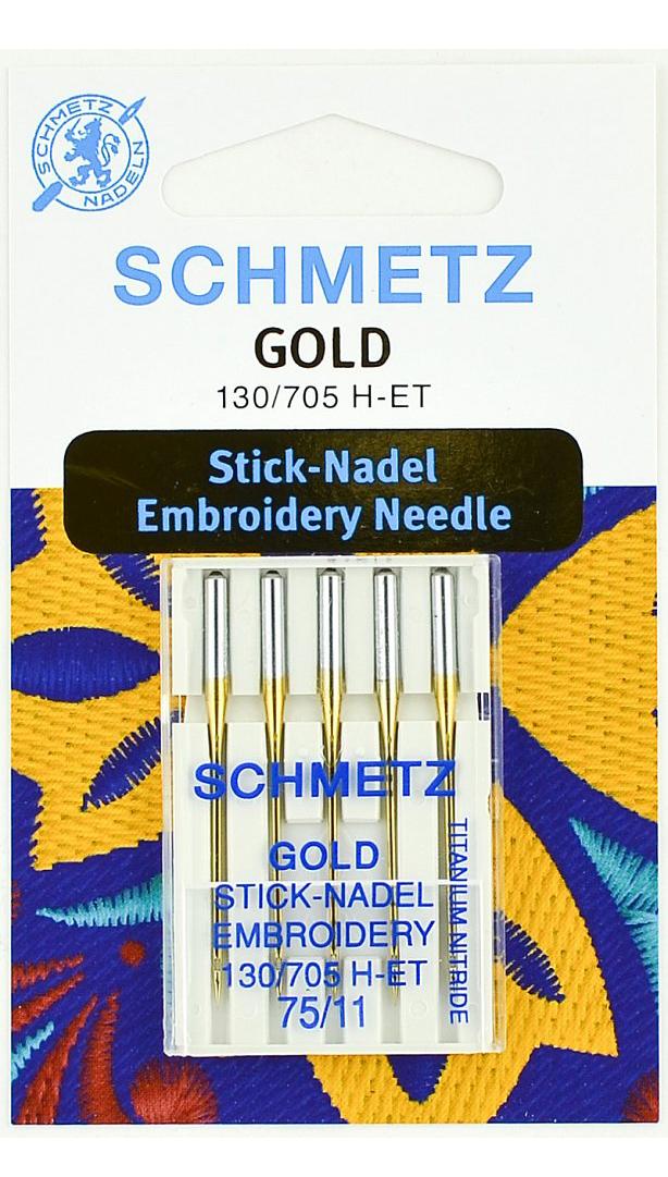 Иглы Schmetz для вышивки, титаниум №90 (5шт.)