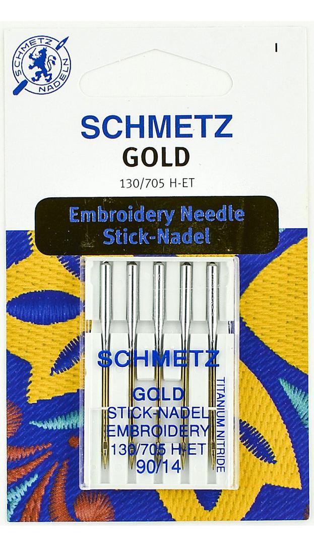 Иглы Schmetz для вышивки, титаниум набор №75 (5шт.)