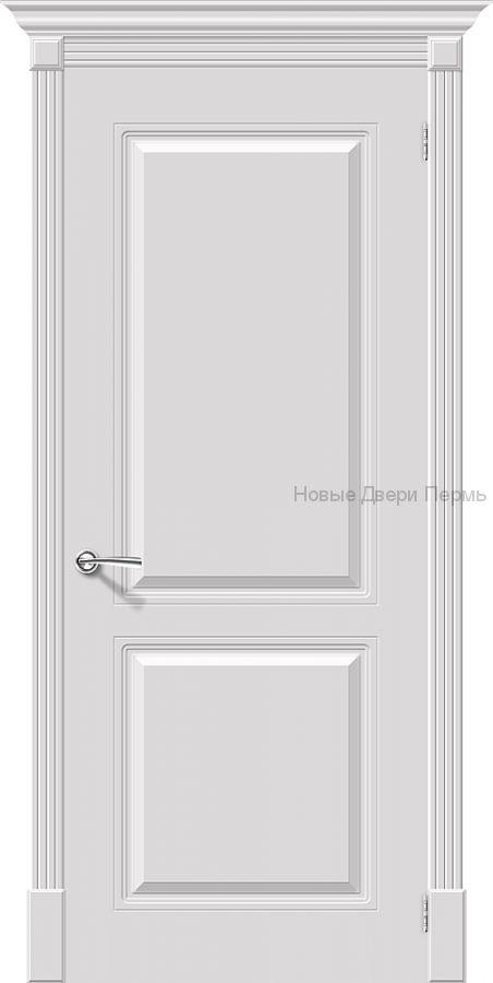 Скинни - 12 Whitey  Дверь межкомнатная крашенная (Эмаль)
