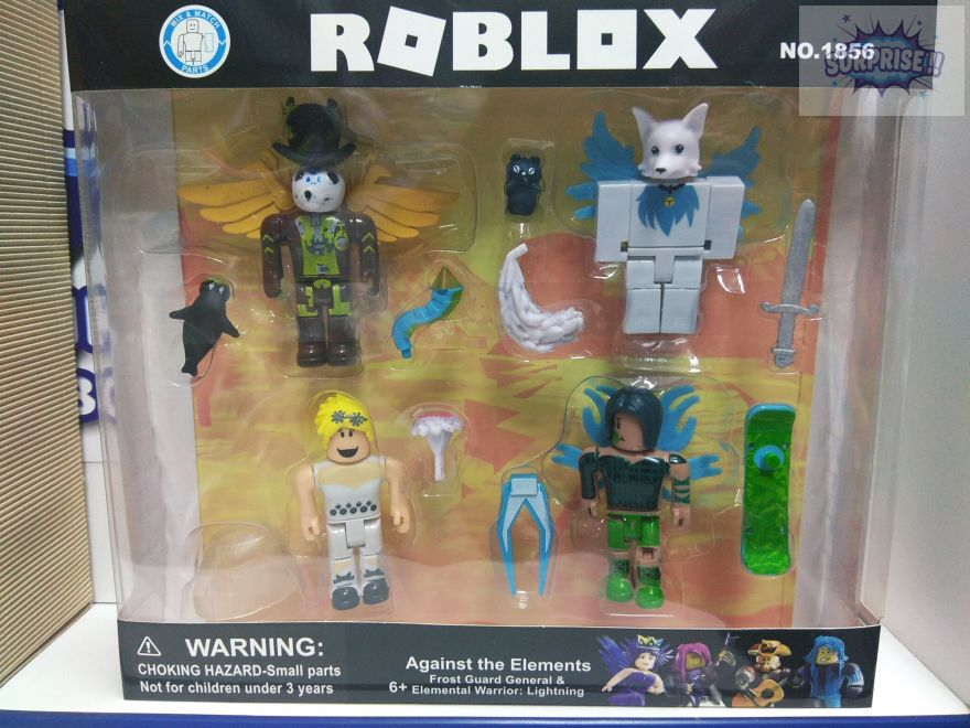 Roblox набор 4 фигурки+аксессуары 7,5см New (Роблокс) (№1856)
