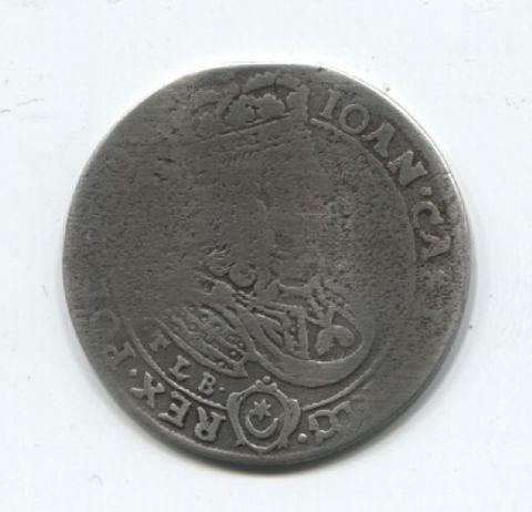 1/4 талера - 18 грошей 1668 года R! Редкий!!! Литва Польша