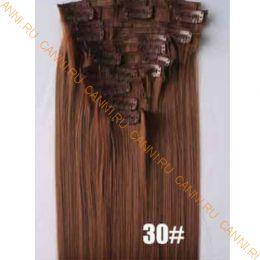Искусственные термостойкие волосы на заколках №030 (55 см) - 12 заколок, 130 гр.