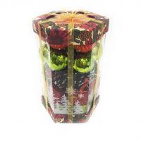 Подарочный набор ёлочных украшений Шары и шишки, 35 шт