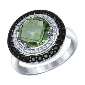 Кольцо из серебра с миксом камней 92011279 SOKOLOV
