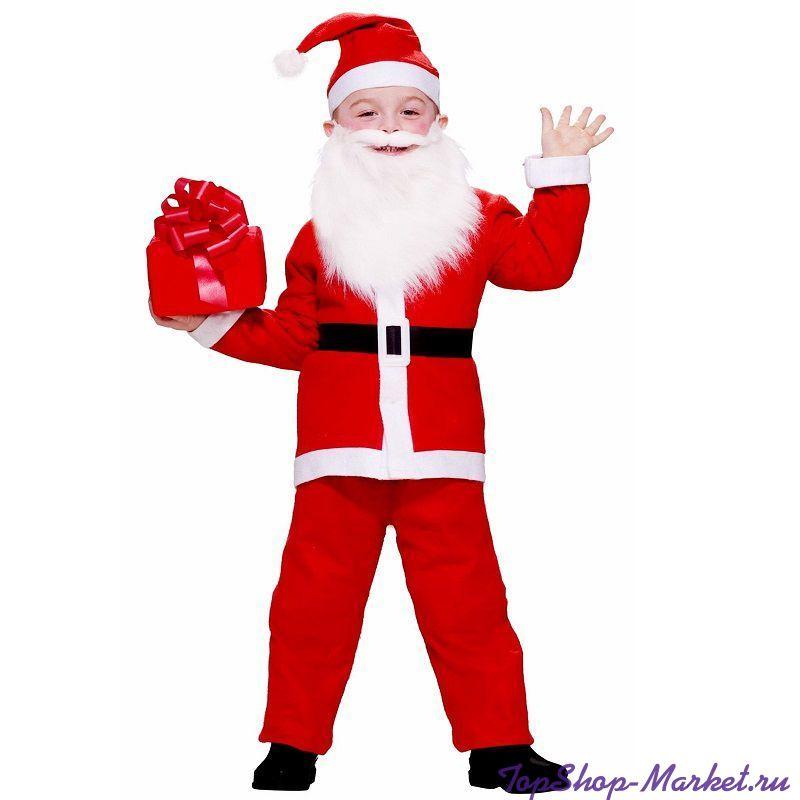 Костюм Санта Клауса с длинной шубой, 50-54 см