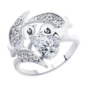 Кольцо из серебра с фианитами 94012851 SOKOLOV
