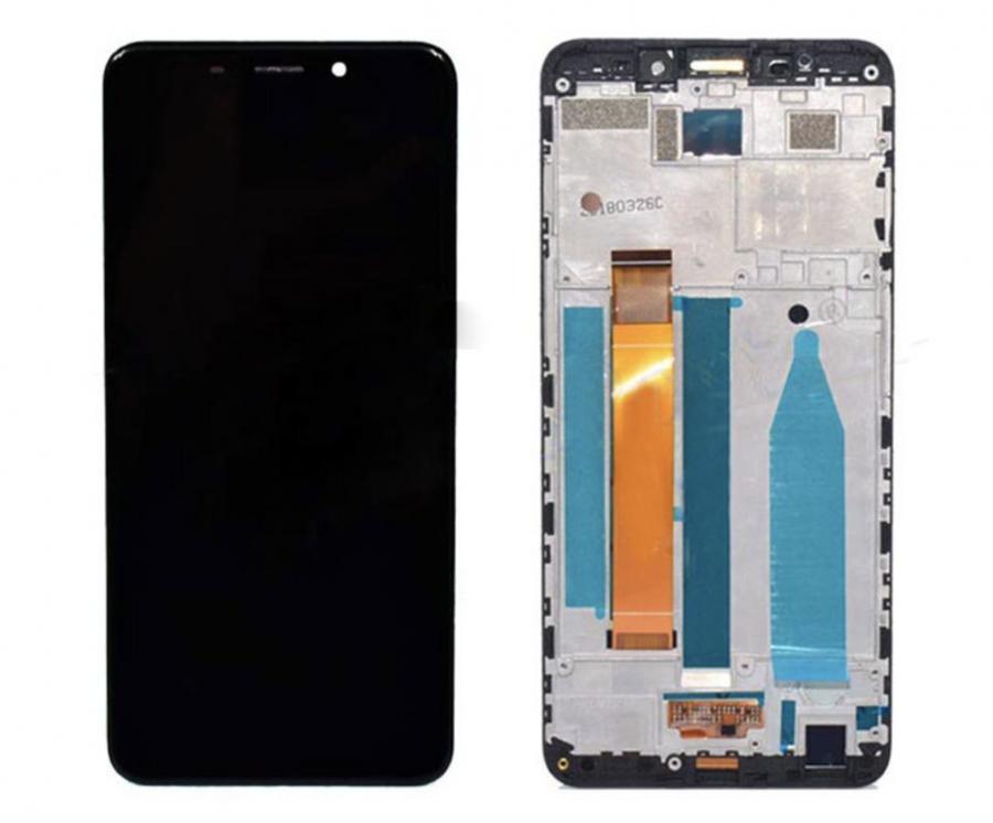 LCD (Дисплей) Meizu M6s (в сборе с тачскрином) (в раме) (black) Оригинал