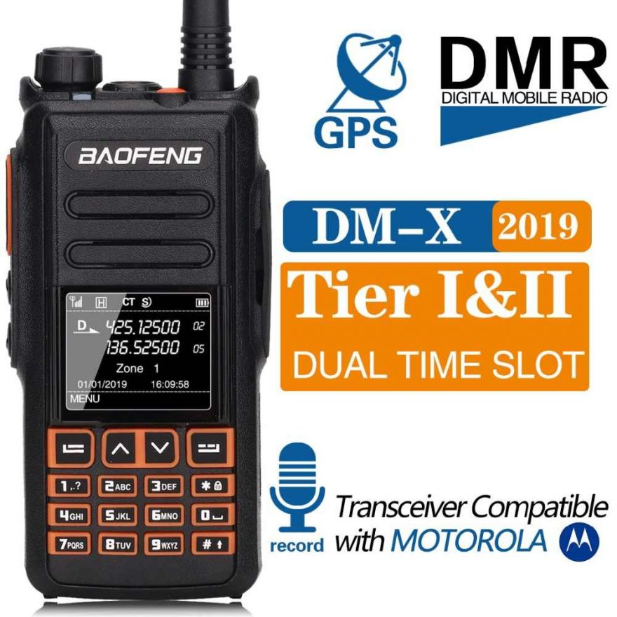 Рация Baofeng DM-X GPS (Tier-I и Tier-II) VHF/UHF