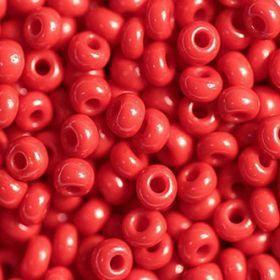 Бисер чешский 93190 непрозрачный темно-красный Preciosa 1 сорт купить оптом