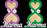 Фоторамка с 8 марта в виде сердец с цветами
