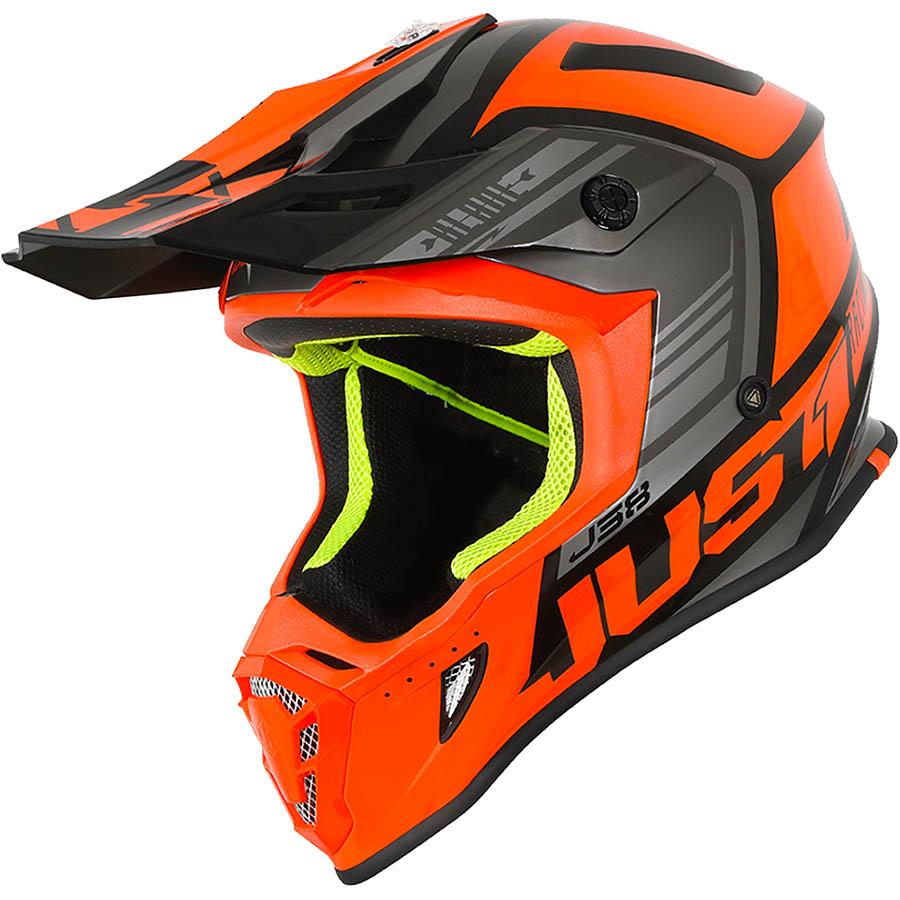 Just1 - J38 Blade Orange/Black Gloss шлем, оранжево-черный