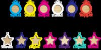 Новогодние игрушки фоторамки разноцветные