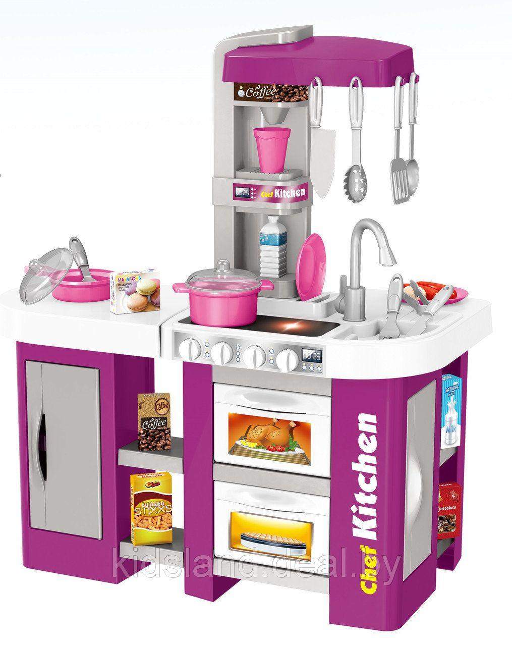 Детская игровая кухня с водой, свет и звук Kitchen Chef, (53 предмета)