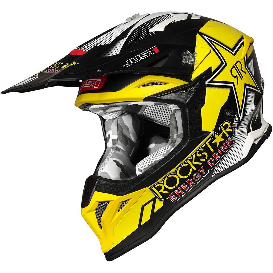 Just1 - J39 Rockstar шлем, желто-черно-белый
