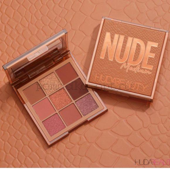 Новые палетки Obsessions на 9 оттенков от Huda Beauty Nude Medium