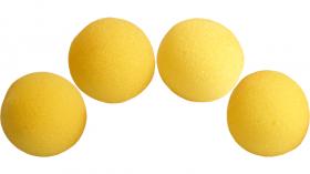"""Поролоновый шарики 2,5 см (1"""") Super Soft Sponge Ball (жёлтые) Pack of 4 from Magic by Gosh"""
