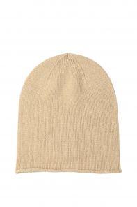 """Кашемировая мягкая классическая тонкая шапка-бини """"Джерси"""",  цвет  Натуральный . NATURAL  Jersey Hat Driftwood"""