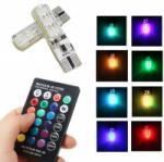 Комплект LED RGB ламп в габариты с пультом LightSpace T10 W5W SMD5050 16 цветов