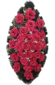 Траурный венок из искусственных цветов - Классика #19