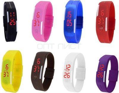 Часы наручные спортивные S-200  (Красные)