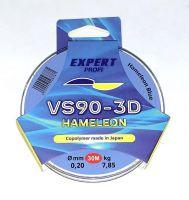 Леска хамелеон Expert Profi голубая VS90-3D 0,12 мм 30 М