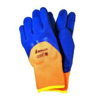 Зимние рабочие перчатки с рельефным покрытием из вспененного латекса
