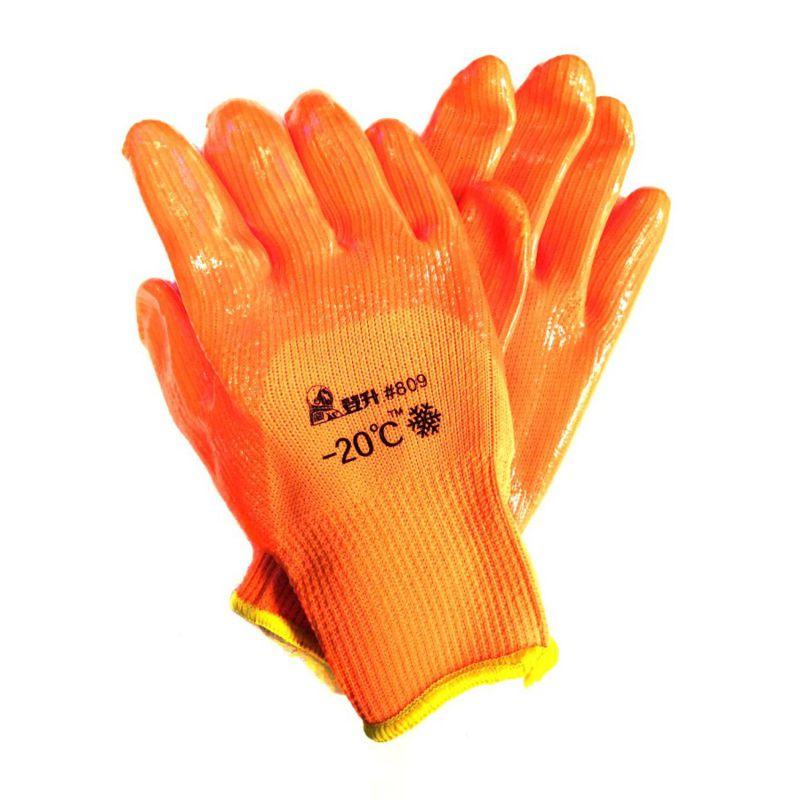 Перчатки рабочие зимние с поливинилхлоридным покрытием #809
