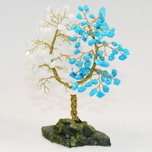 Дерево Любви - Хаолит и Агат белый