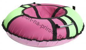 Тюбинг Hubster Хайп розовый-салатовый 80 см
