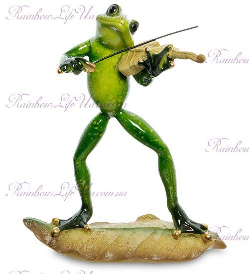 """Фигурка лягушка со скрипкой """"MN"""""""