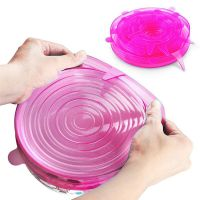 Силиконовые Крышки Silicone Sealing Lids, 6 шт, Цвет Розовый (3)