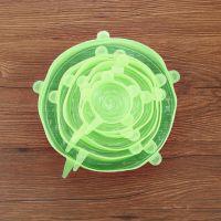 Силиконовые Крышки Silicone Sealing Lids, 6 шт, Цвет Зеленый (4)