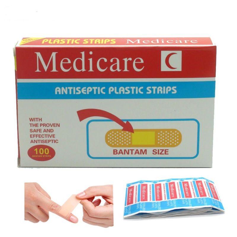 Пластырь антисептический MEDICARE, 100 шт