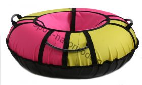 Тюбинг Hubster Хайп желтый-розовый 90 см