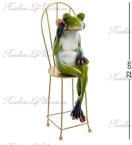 "Фигурка лягушка с мобильным на стуле ""MN"""