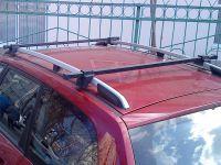 Багажник (поперечины) на рейлинги на Chevrolet Lacetti universal, Атлант, стальные дуги