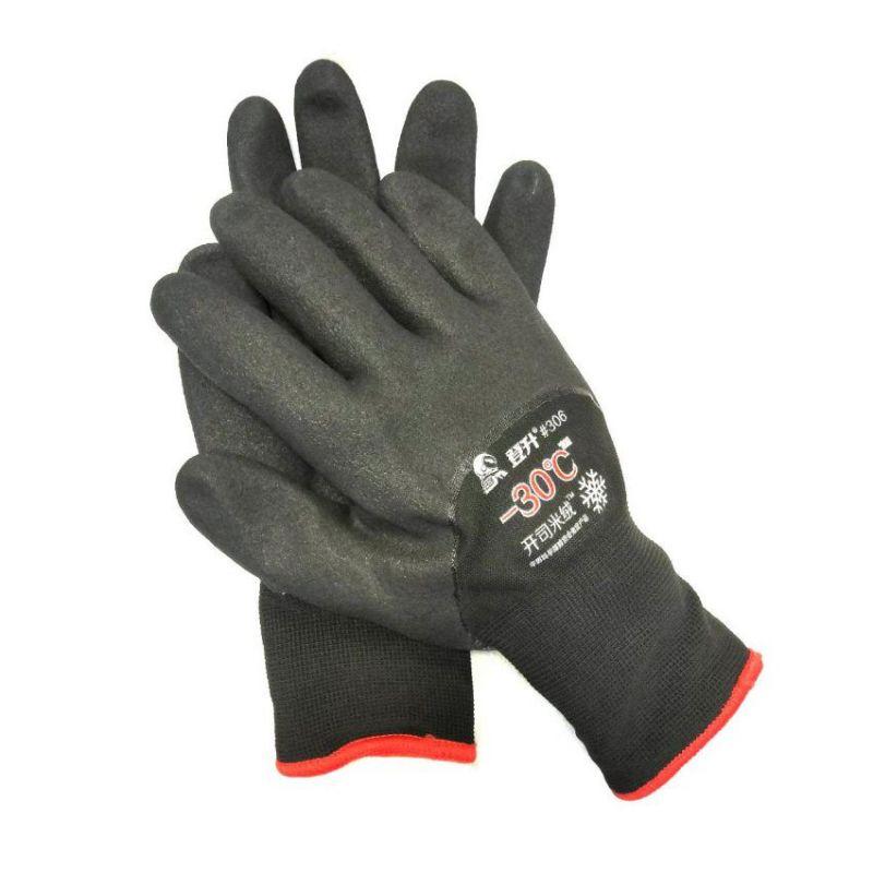 Перчатки рабочие зимние с покрытием из вспененного латекса #306