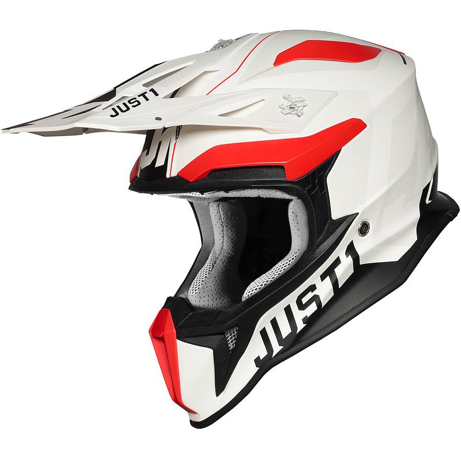 Just1 - J18 Virtual Fluo Red / White Matt шлем, красно-белый матовый