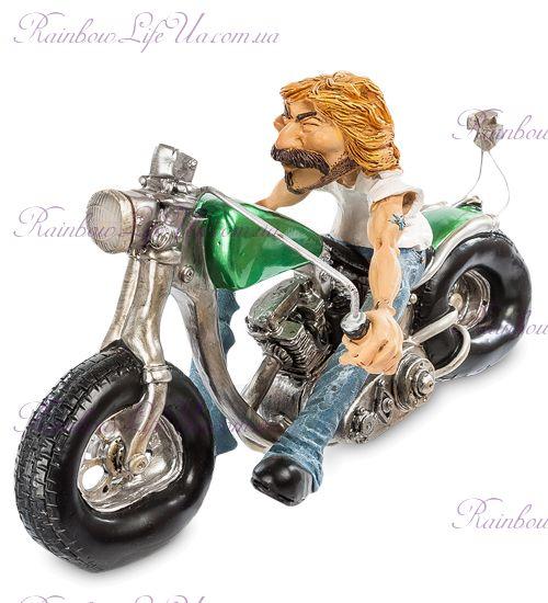 "Фигура байкер на мотоцикле ""W.Stratford"""