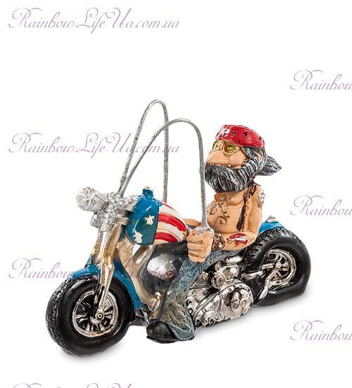 "Фигурка байкер в бандане на мотоцикле ""W.Stratford"""