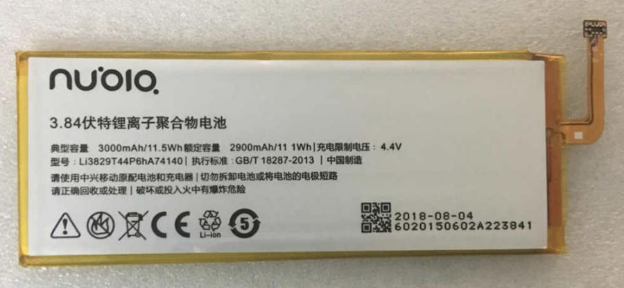 Аккумулятор ZTE Nubia Z9/Nubia Z9 Max/Nubia Z9 Mini (Li3829T44P6hA74140) Оригинал