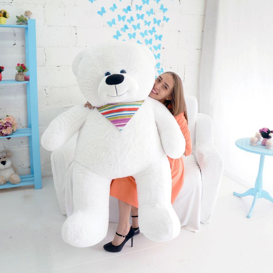 Мишка Добрыня (ОР-180см)(Д-140см) Белый