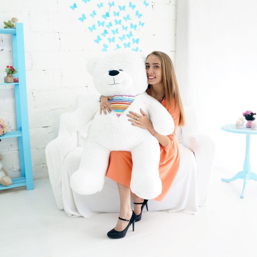 Мишка Добрыня (ОР-130см)(Д-105см) Белый