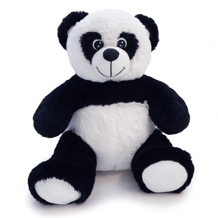 Мишка Панда Кузя (ОР-70см)(Д-60см) Черно-белый