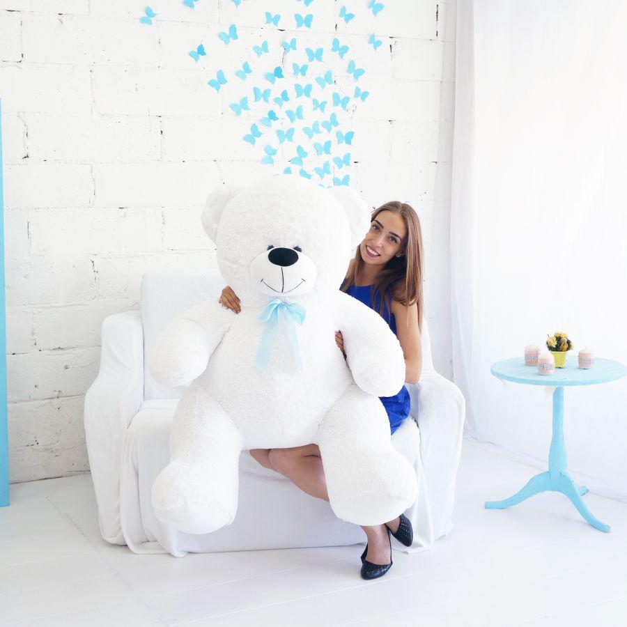 Мишка Кузя (ОР-160см)(Д-120см) Белый